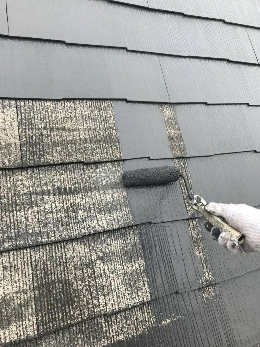 屋根 屋根専用塗料材 1回目