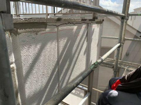 外壁補修工事 ALC造(0.3mm以上クラック補修Uカット)シーリング仕上げ